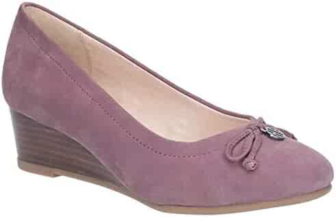 bcf7e33b79d Hush Puppies Womens Ladies Morkie Charm Wedge Shoes (10 US) (Light Plum
