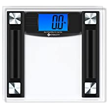 Etekcity 506lb/230kg Digital Body Weight Bathroom Scale with 4.3-Inch Backlit LCD Display, Batteries Included