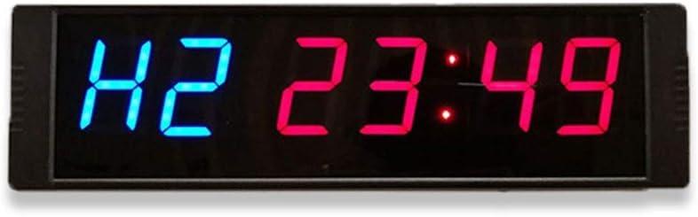 LEDインターバルタイマー カウントダウンタイミング分秒秒リモートコントロールLED付きカウントダウンタイマーカウントダウンクロック リモートおよびボタン付きタイマー (色 : 青, サイズ : 26.5X7.5X2.5CM) 青 26.5X7.5X2.5CM