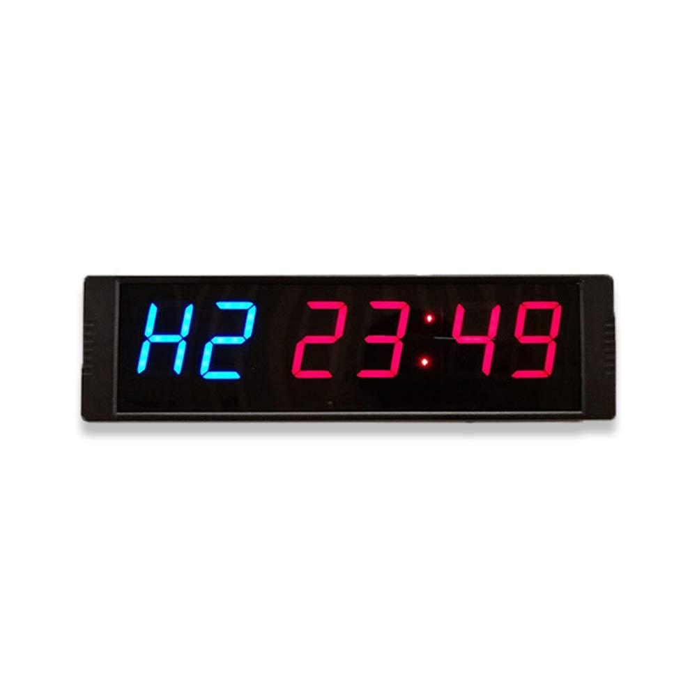 タイマー LEDディジットカウントダウンクロックカウントダウンタイマーリモコンタイミング分秒 多機能 (色 : 青, サイズ : 26.5X7.5X2.5CM) 青 26.5X7.5X2.5CM