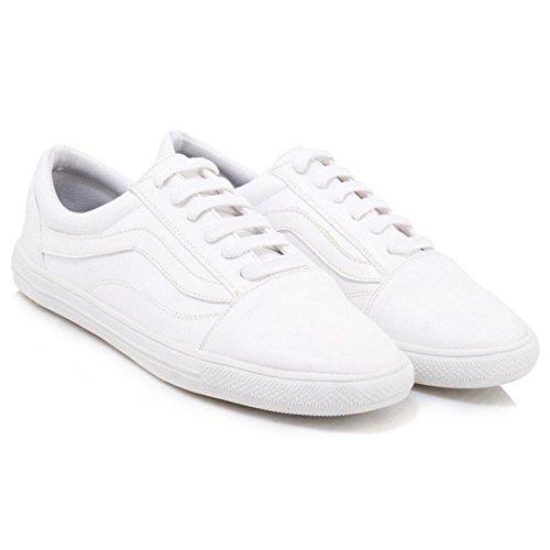 White Skateboard Scarpe Moda Donne TAOFFEN qgwIzw