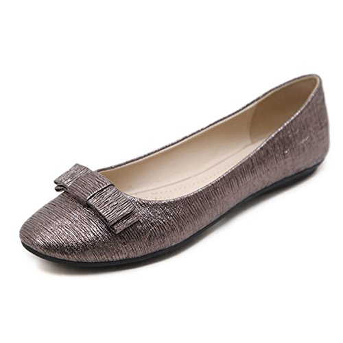 York Zhu Ballet Flats for Women, Bowknont Pointed Toe Flats, Ladies Dressy (How To Wear Ballet Slippers)