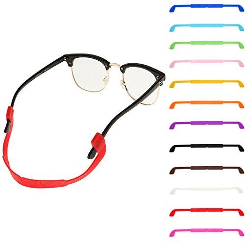 Silica gel Glasses Sunglasses Eyewear Cord Neck Trap Holder Non-slip Strap Hang Rope - Black (Trap Strap)