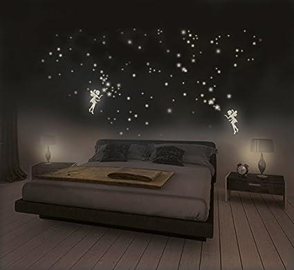 Adesivi Che Si Illuminano Al Buio Fatine E Stelle Con Punti Luminosi Adesivi Fluorescenti Per Creare