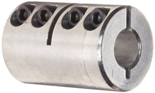 Ruland CLX-6-6-A One-Piece Clamping Rigid Coupling, Aluminum, 3/8'' Bore A Diameter, 3/8'' Bore B Diameter, 7/8'' OD, 1-3/8'' Length by Ruland