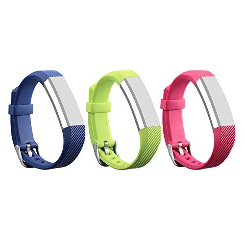 I-SMILE 3PCS Newest Version Colorful Replacement Wristband With Secure Clasps for Fitbit Alta Only(No tracker, Replacement Bands Only)