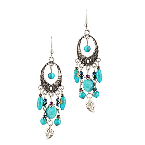 Lake Traditional Chandelier - Blesiya Lady Women's Party Tassels Dangle Drop Hook Earrings Chandelier Ear Jewelry - Lake Blue