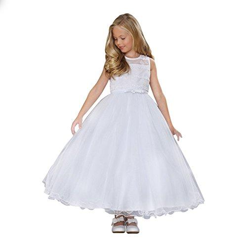 Angels Garment Big Girls White Illusion Neckline Bolero Communion Dress 18 from Angels Garment