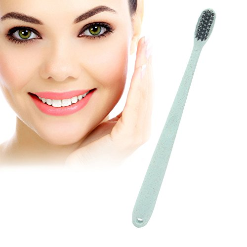 Activated Charcoal Whitening Toothbrush,Bamboo Charcoal Removes Plaque Stains, Fight Cavities, Whitens Teeth Bamboo Toothbrush (Teeth Cavity)