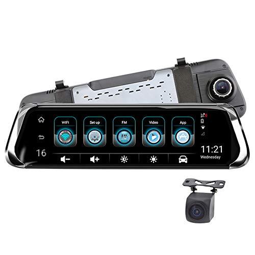 ZMM Coche Dash CAM 10in IPS Pantalla táctil Coche grabadora de conducción Dual Lente Bluetooth WiFi 4G Android 5,1 Coche...