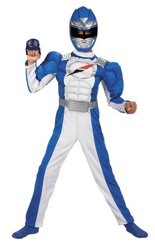 Power Rangers Operation Overdrive #6560 Blue Ranger Quality Muscle Costume (Child Medium 7-8)