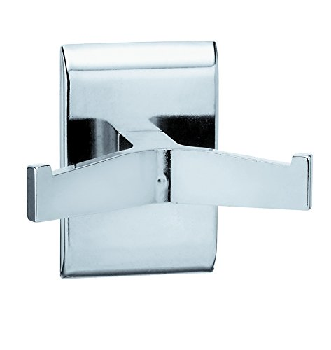 Plate Robe Hook - Bradley Corporation 912-000000 Bradley 912-000000 Robe Hook, Double, Chrome Plated