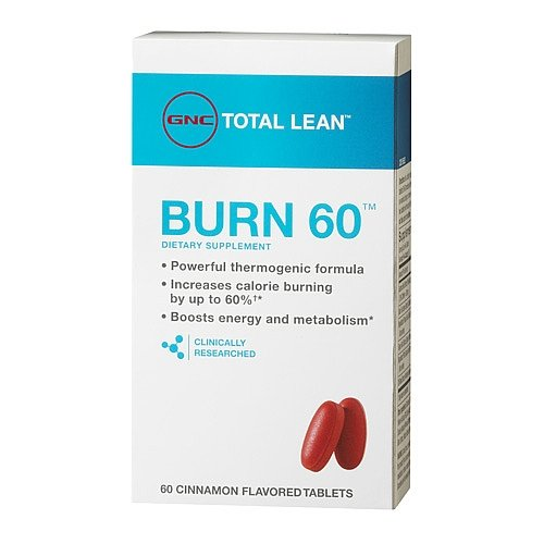 GNC Total Burn Nutritional Supplement Cinnamon Flavored, 60 Count