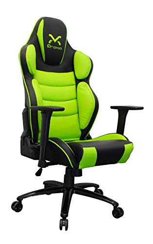 3GoSilla Gaming TROUN Pro Color Negro con Detalles EN Verde Base Metalica APOYA Brazos 3D Ajusta