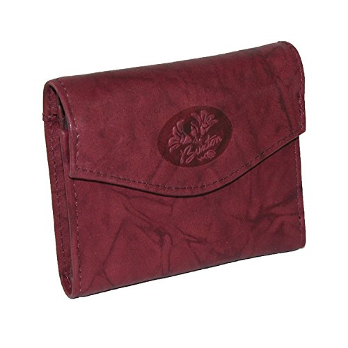 Buxton Heiress Pik-Me-Up Mini-Trifold, Burgundy