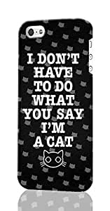I'm A Cat Pattern Image - Protective 3d Rough Case Cover - Hard Plastic 3D Case - For iPhone ipod touch4