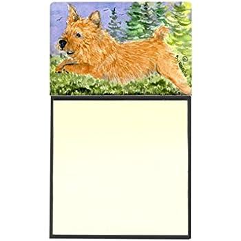Multicolor 3.25 by 5.5 Carolines Treasures 7249SN Bull Terrier Refillable Sticky Note Holder or Postit Note Dispenser