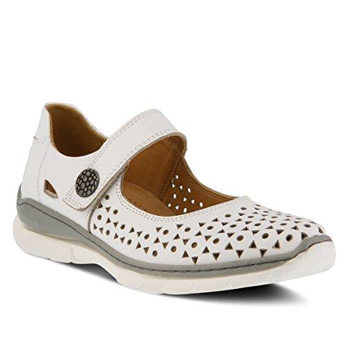 Zapato Mary Jane En Cuero Para Mujer Spring Step Style Blanco