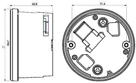 TNT-04 Drehzahlmesser//Tachometer mit schwarzem Ring KOSO Digitales Multifunktions-Cockpit