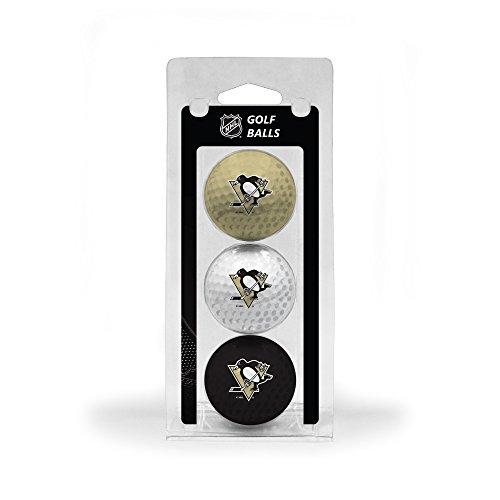Team Golf NHL Pittsburgh Penguins Regulation Size Golf Balls, 3 Pack, Full Color Durable Team Imprint