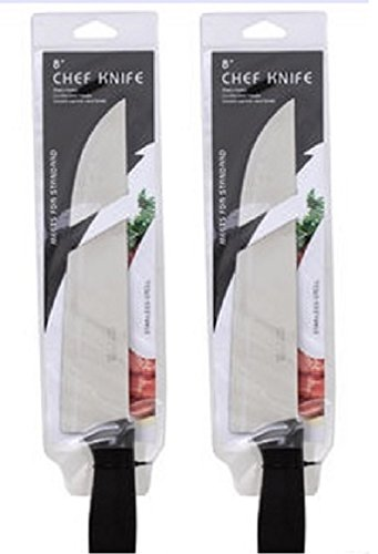 8-Professional-Chef-Knife-2-Piece-Set-Stainless-Steel-for-Cutting-Carving-Slicing-Dicing-Chopping-and-Mincing-of-Meats-Fruits-and-Vegetables