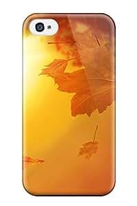 For TEczckv1814iwsJG Orange Autumn Protective Case Cover Skin/iphone 4/4s Case Cover