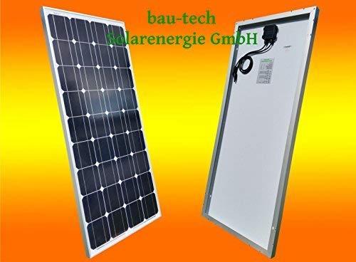 bau-tech Solarenergie 130Watt Solarmodul Solarpanel Photovoltaik Solarzelle 130W 12V Monokristallin GmbH