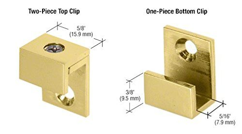 CRL Brass 5/8 Wide Mirror Clips - Set by C.R. Laurence by C.R. Laurence