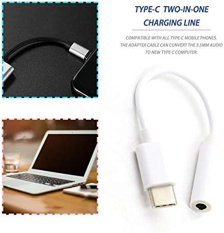 frYukiko Type-C to 3.5mm Earphone Cable USB-C Male to 3.5 Female Audio Jack Adapter