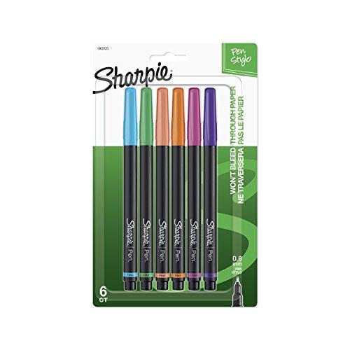 (Sharpie 1802225 Pen, Fine Point, Assorted Colors, 6-Count)