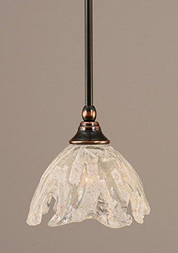 Toltec Lighting 23-BC-759 Stem Mini-Pendant Light Black Copper Finish with Italian Ice Glass, ()