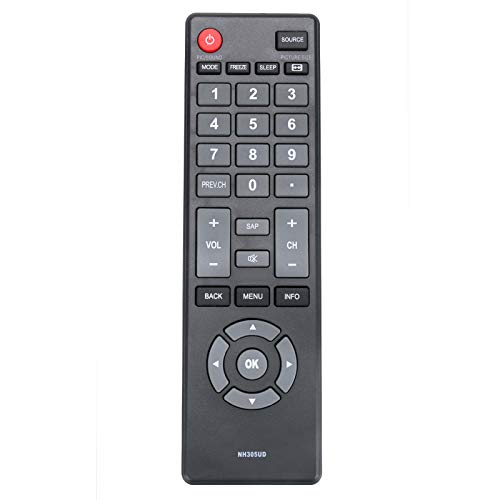 New NH305UD Remote Control Compatible with Emerson LCD TV HD
