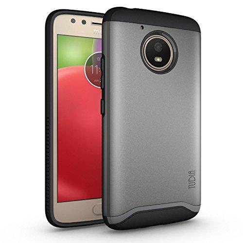 Moto E4 Funda, Caja protectora TUDIA MERGE TAREA PESADA Protección EXTREME de doble capa para Motorola Moto E4 (Oro Rosa) Grafito