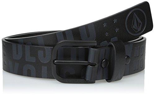 Volcom Men's Picto Belt, Black On Black, - Volcom Mens Belt Buckle Shopping Results