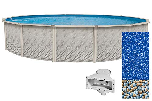 (Lake Effect Meadows Reprieve 24' Round Above Ground Swimming Pool | 52