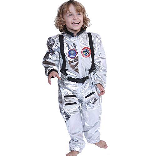 FantastCostumes Kids Astronaut Spaceman Costume Sliver Space Uniform -