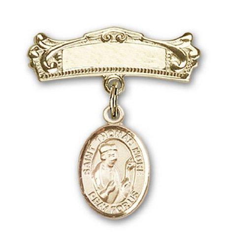 Icecarats Or Bijoux De Créateurs Rempli R. Thomas Plus De Charme Broches Badge Arc 7/8 X 3/4