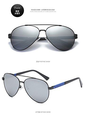 y modelos Película hombres explosión sol polarizadas América Visor gafas la gafas Gafas nuevos sol Retro de Negra polarizadas de Caja Mercurio de de Europa x71Pz