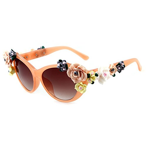 Smile Tomorrow Lady Retro Rose Flowers Decoration Summer Beach - Titanium Rimless Eyeglass Best Frames