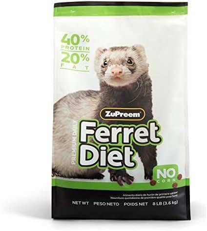 Zupreem 230058 Premium Ferret Pet Food, 8-Pound