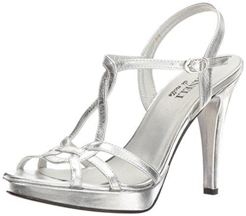 VANELi Women Qamar Dress Sandal Silver Met Nappa/Silver Buckle