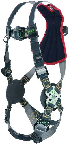 Miller RKNARRL-TB/UBK Revolution Arc Rated Harness with Kevlar-Nomex Webbing, Rescue Loop and Tongue Leg Buckles, Black, Universal Size (Large/XL)