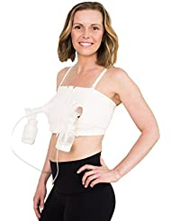 Simple Wishes Signature Hands Free Pumping Bra, Patented, Pink, XS-Large