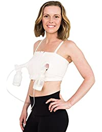 Signature Hands Free Pumping Bra, Patented, Soft Pink, XS-Large