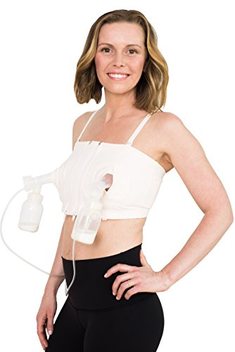 Simple Wishes Signature Hands Free Breastpump Bra, Pink, XS-Large