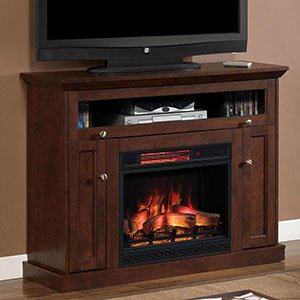 Windsor Corner Infrared Electric Fireplace Media Cabinet 23DE9047-PC81 - Cherry Finished Tv Stand