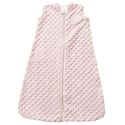 HALO Sleepsack Plush Dot Velboa Wearable Blanket, Pink, Small (Girls Sleep Bag)