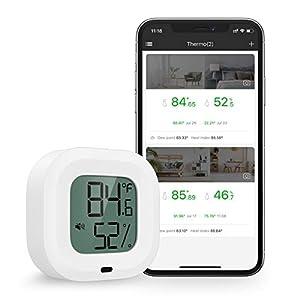 Brifit Termometro Igrometro Bluetooth, Monitor di Umidità Della Temperatura con 1.5''Schermo LCD, con Avviso di Allarme… 41K 6TiZlrL. SS300