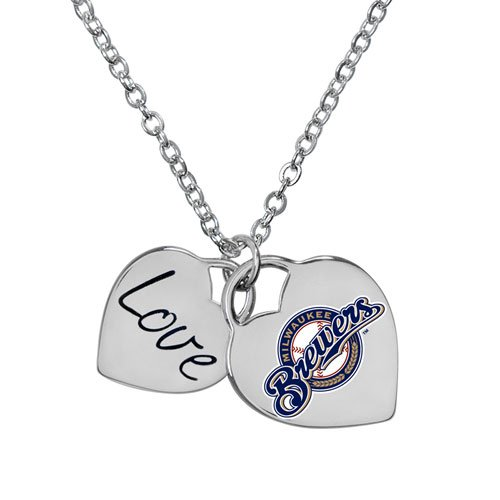 Heart Milwaukee Brewers - Game Time 101610 MLB Milwaukee Brewers Heart Necklace