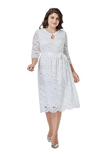 GMHO Women\'s Plus Size O Neck Short Sleeve Fit Party Elegant ...